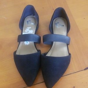 Report Shoes - Report Strappy Flats Suede Size 10
